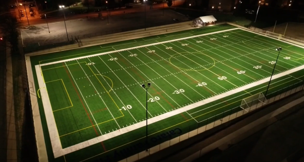 University Electric lights up Cafaro Family Field